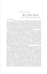 Printed Journal Letter 2: June 5, 1876