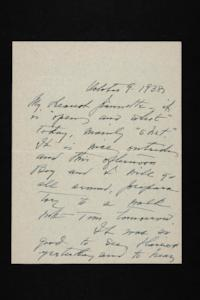 Letter from Mary Woolley to Jeannette Marks, 1938 October 9