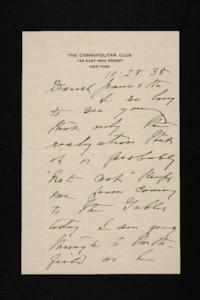 Letter from Mary Woolley to Jeannette Marks, 1938 October 28