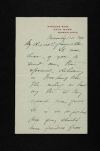 Letter from Mary Woolley to Jeannette Marks, 1938 November 12