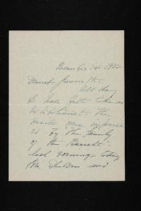 Letter from Mary Woolley to Jeannette Marks, 1938 November 14