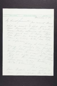 Letter from Mary Woolley to Jeannette Marks, 1938 December 11