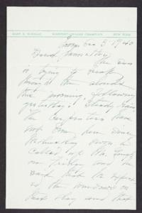 Letter from Mary Woolley to Jeannette Marks, 1940 November 3