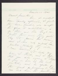 Letter from Mary Woolley to Jeannette Marks, 1940 November 12