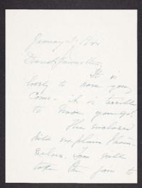 Letter from Mary Woolley to Jeannette Marks, 1941 January 5