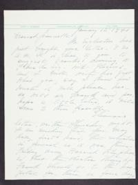 Letter from Mary Woolley to Jeannette Marks, 1941 January 12