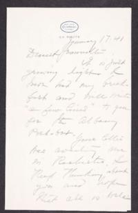 Letter from Mary Woolley to Jeannette Marks, 1941 January 17