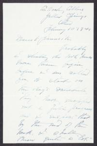 Letter from Mary Woolley to Jeannette Marks, 1941 February 10