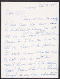 Letter from Mary Woolley to Jeannette Marks, 1941 February 12