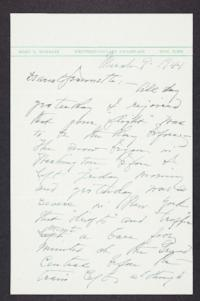 Letter from Mary Woolley to Jeannette Marks, 1941 March 9