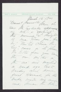 Letter from Mary Woolley to Jeannette Marks, 1941 March 16
