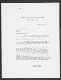 Letter from Mary Woolley to Jeannette Marks, 1941 April 26