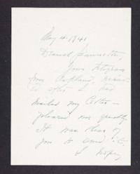 Letter from Mary Woolley to Jeannette Marks, 1941 May 4