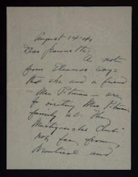 Letter from Mary Woolley to Jeannette Marks, 1941 August 14