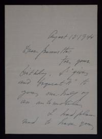 Letter from Mary Woolley to Jeannette Marks, 1941 August 15