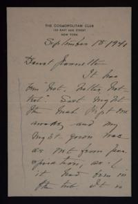 Letter from Mary Woolley to Jeannette Marks, 1941 September 18