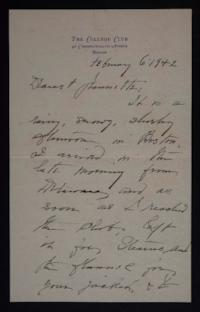 Letter from Mary Woolley to Jeannette Marks, 1942 February 6