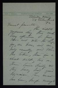 Letter from Mary Woolley to Jeannette Marks, 1942 February 14