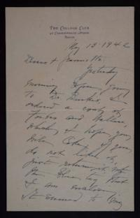 Letter from Mary Woolley to Jeannette Marks, 1942 May 13