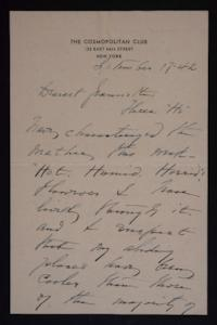 Letter from Mary Woolley to Jeannette Marks, 1942 September 17
