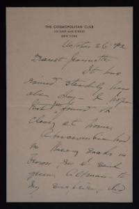 Letter from Mary Woolley to Jeannette Marks, 1942 October 26