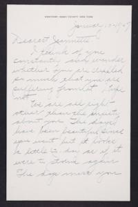 Letter from Mary Woolley to Jeannette Marks, 1947 January 10
