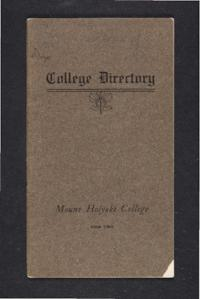 Mount Holyoke College Directory, 1904-1905