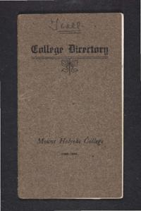 Mount Holyoke College Directory, 1905-1906