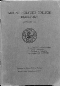 Mount Holyoke College Directory, 1965-1966