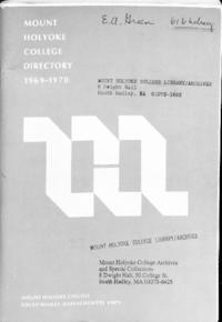 Mount Holyoke College Directory, 1969-1970