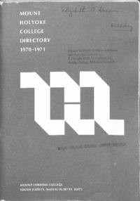 Mount Holyoke College Directory, 1970-1971