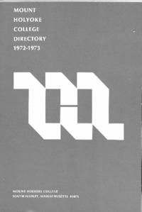 Mount Holyoke College Directory, 1972-1973