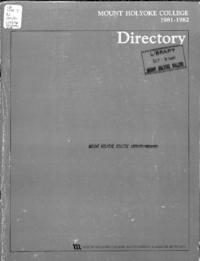 Mount Holyoke College Directory, 1981-1982