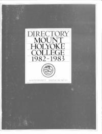 Mount Holyoke College Directory, 1982-1983