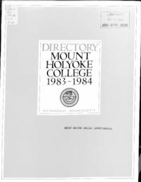 Mount Holyoke College Directory, 1983-1984