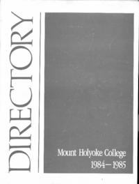 Mount Holyoke College Directory, 1984-1985