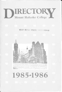 Mount Holyoke College Directory, 1985-1986