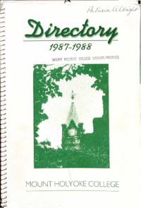 Mount Holyoke College Directory, 1987-1988