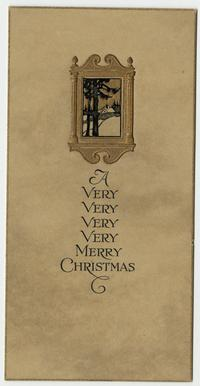 "Christmas card from C. E. Snow to Cornelia Clapp, ""A Very Merry Christmas"""