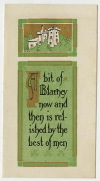St. Patrick's Day card belonging to Cornelia Clapp