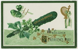 St. Patrick's Day postcard belonging to Cornelia Clapp