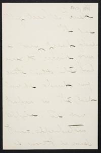 Mary Emma Woolley autograph letter signed to C.W. Ernst, 1894 May 21