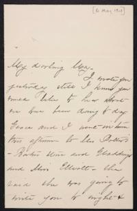 Mary Augusta (Ferris) Woolley autograph letter signed to Mary Emma Woolley, 1901 May 6