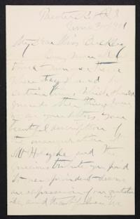 Rev. Joseph Judah  Woolley autograph letter signed to Anne L. Buckley, 1901 June 3