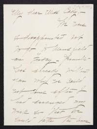 Mary Emma Woolley autograph letter signed to Helen May Cady, 1901 July 15