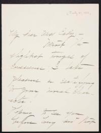 Mary Emma Woolley autograph letter signed to Helen May Cady, 1901 July 31