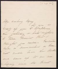 Mary Augusta (Ferris) Woolley autograph letter signed to Mary Emma Woolley, 1901 September 10