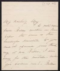 Mary Augusta (Ferris) Woolley autograph letter signed to Mary Emma Woolley, 1901 September 11