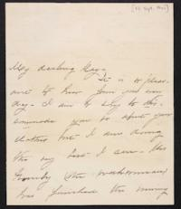 Mary Augusta (Ferris) Woolley autograph letter signed to Mary Emma Woolley, 1901 September 13
