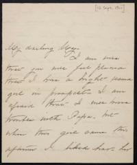 Mary Augusta (Ferris) Woolley autograph letter signed to Mary Emma Woolley, 1901 September 18